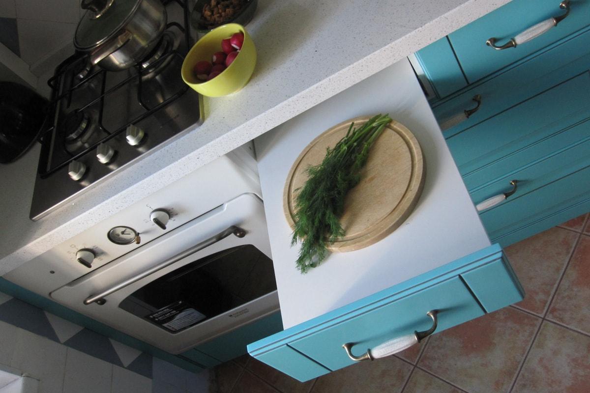 кухня из крашеного МДФ